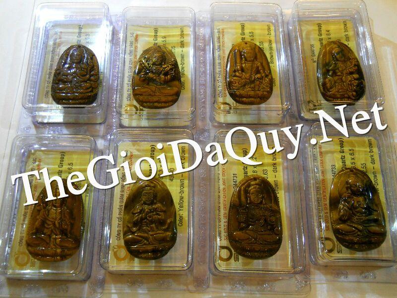 Bán Phật bản mệnh 12 con giáp đá mắt hổ có giám định đá quý SJC của Phong thuỷ Hoa Mộc Lan